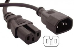 AC EXTENSION 3 PRONG CUP MALE TO 3 HOLES FEMALE 6'