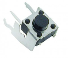 MICRO SWITCH, WITH SUPPORT , 6X6MM, HEIGHT FROM BOTTOM 4.3 MM, 2LEGS