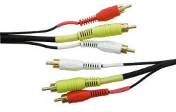 TRIPLE RCA TO RCA IN GOLD 12FT