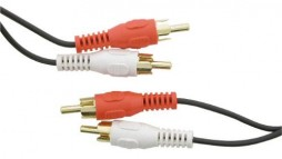 2 RCA TO 2 RCA GOLD 25FT